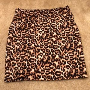 Cheetah Pencil Skirt